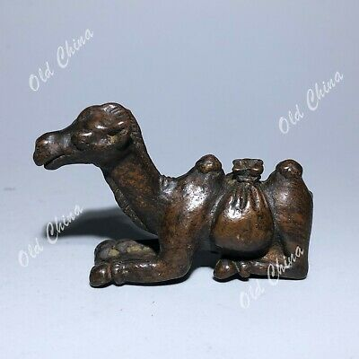 Collectible Chinese Old Solid Copper Handwork Two-Humped Camel Vintage Statue