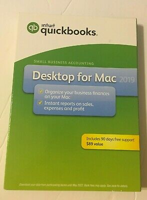 Intuit QuickBooks Desktop For Mac 2019 New Retail Box BRAND NEW