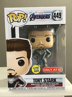 Funko Pop! Avengers Endgame Tony Stark Glow In The Dark #449 Target Exclusive!