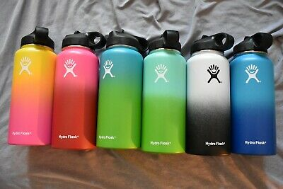 Hydro Flask Water Bottle Stainless Steel & Vacuum Insulated with Lid Straw 32 Oz
