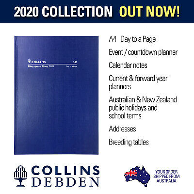 Collins - Kingsgrove A4 Day to Page - Blue - Diary 2020