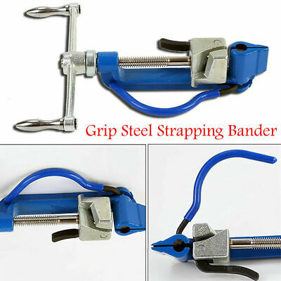 Pistol Grip Steel Strapping Bander Tool Tensioner Tie Strapping Plier Pipe Clamp