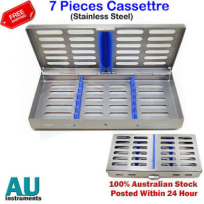 Cassette for 7 Pcs Instruments Stainless Steel Surgical Dental Laboratory Tools