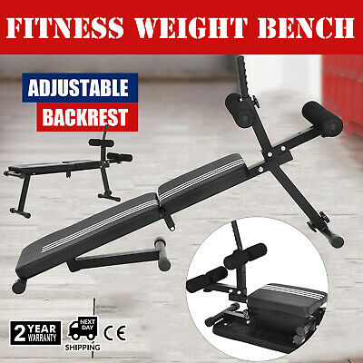NEW Folding Decline Sit Up Bench AB Abdominal Fitness Weight Exercise Adjustable