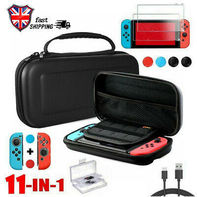 Switch Case Bag+Shell Cover+Charging Cable+Protector Accessories for Nintendo