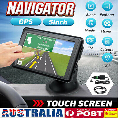 5'' Car Truck Navigation GPS Navigator System Sat Nav Lifetime Map Speedcam FM