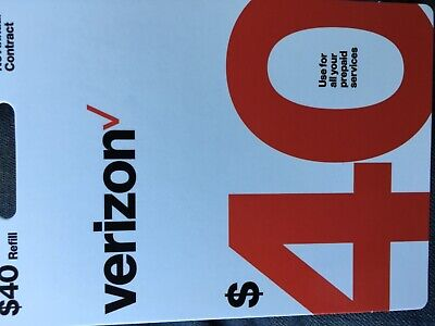 Verizon Wireless $40 Prepaid  Card After Buying Give Your Phone For Direct Refil