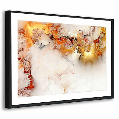 AB1355 Retro White Marble Modern Abstract Canvas Wall Art Large Picture Prints