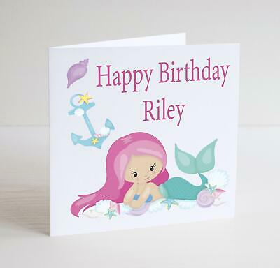 BCS15 flower bouquet Birthday Personalised square greetings card with Envelope