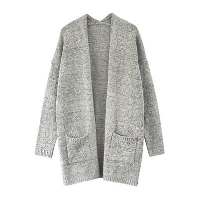 Autumn Long Sleeve Loose Knitted Cardigan Sweater Fashion Women Casual Coat