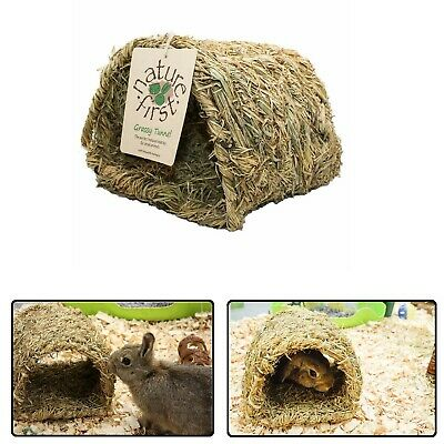 Happy Pet - Grassy Tunnel Natural Grass Pet Toy for Rabbit Hamsters Gerbils Rats