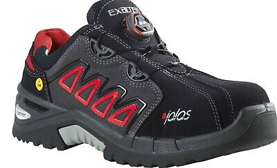 * NEW * 9548 EXALTER by JALAS EASYROLL Safety Trainers S3 RRP 100£ Black/Red