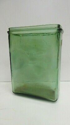 Antique Green Glass Battery Jar Science Laboratory Decorative Industrial Vase