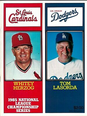 1985 NLCS Program St. Louis Cardinals vs Los Angeles Dodgers MLB Playoffs jmc2
