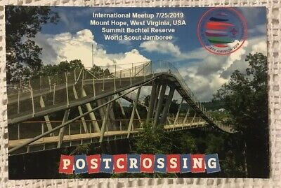2019 24th World Scout Jamboree Postcard Postcrossing Meetup Card ENERGY BRIDGE