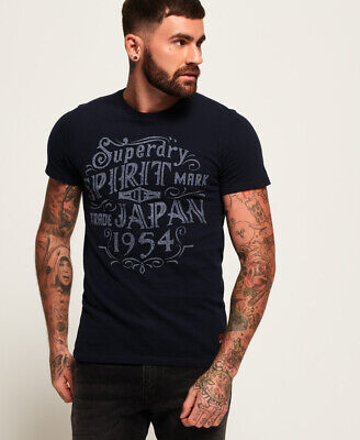 New Mens Superdry Union Supply Heritage Classic T-Shirt Eclipse Navy