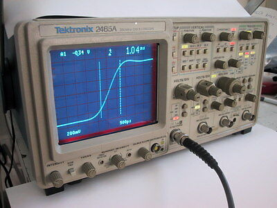 Calibrated TEKTRONIX 2465A 350MHz OSCILLOSCOPE,1 YR GUARANTY AVAILABLE @ extra