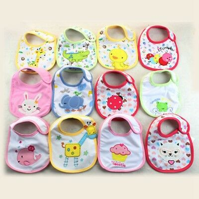 Baby Girl Cotton Bibs Waterproof Saliva Towel Bib Feeding Burp Apron Bandana Czx