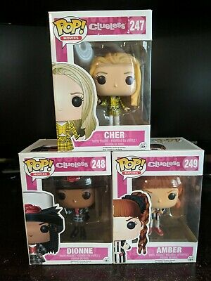 CLUELESS funko pop lot of 3 Cher Dionne Amber NEW NIB vaulted Rare
