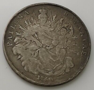 1760 Unknown Coin Silver Antique Old Spanish Portugese German Angels Heaven God
