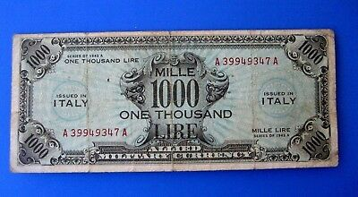 Rara 1000 Am Lire 1943  Bilingue Occupazione Americana In Italia