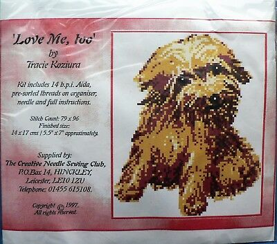 Tracie Koziura 'Love Me Too' Terrier Counted Cross-stitch Kit [He]