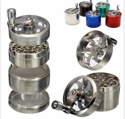 Tobacco Herb Spice Grinder 4 Part Herbal Alloy Smoke Chromium Crusher Silver 1PC