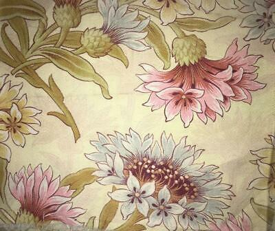 BEAUTIFUL 19th CENTURY FRENCH COTTON, CORNFLOWERS, REF PROJECTS 69