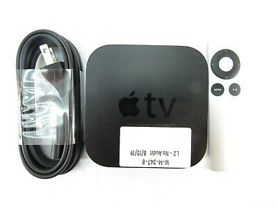 Apple TV A1469 3rd Generation 8GB HD With Power Cord And Remote