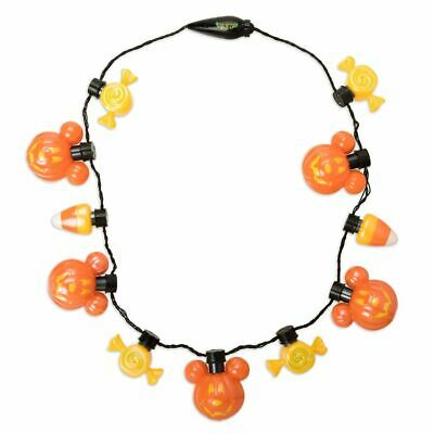 DISNEY Parks HALLOWEEN GLOW NECKLACE Mickey Mouse LED Light-Up NWT