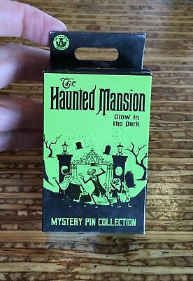 Disney Park Haunted Mansion 50th Mystery Collection 2 Pin Box Glow In Dark NEW