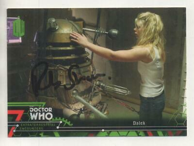 """Dr Who Topps Extraterrestrial Card No.72 Auto by Rob Shearman """"Writer"""" DALEKS"""