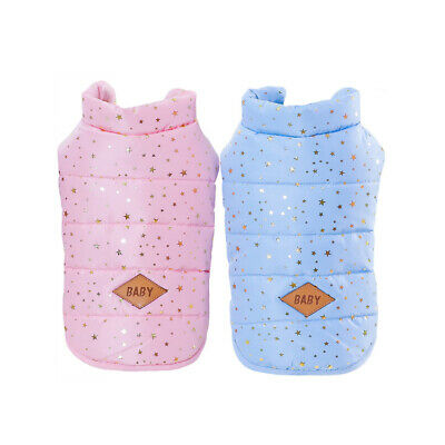 Bling Winter Cat Dog Jacket Padded Pet Clothes Vest Small Puppy Coat Apparel New
