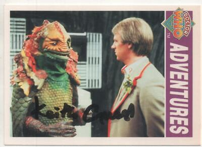 """Dr Who Cornerstone Trading Card No.39 Auto by Keith Guest """"Masked Villager"""""""