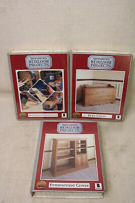 Shopsmith's Lot of 3 Heirloom Projects VHS Tape Book 515759 515761 515756 NR .99