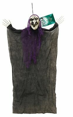 90cm Halloween Wandbehang Hexe Party Dekoration Gruselig Ornament Dekor Horror