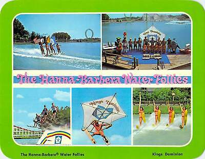 postcard BIG 5.25x6.75 Hanna-Barbera WATER SHOW Kings Dominion VA Amusement Park