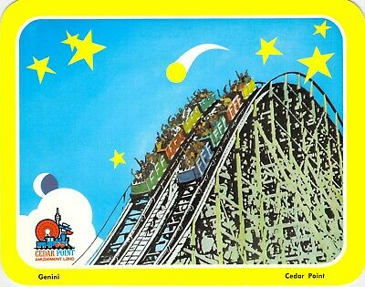 postcard BIG 5.25x6.75 **ERROR CARD** Cedar Point Amusement Park GENINI (error)
