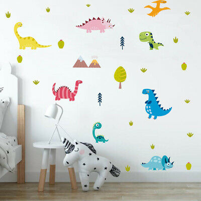 Dinosaur Wall Sticker Kids Boys Room Wall Decals Cartoon Animal Art Decor Vinyl