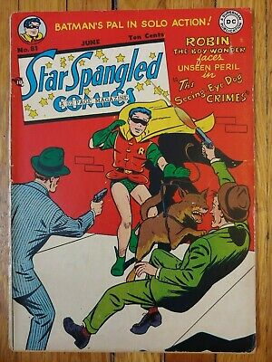 Star Spangled Comics 81. DC 1948 Golden Age Comic 10 Cent. Robin. Nice!