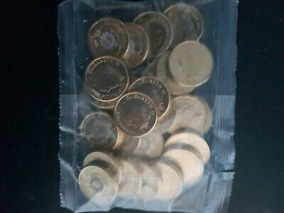 1 Sealed Bag Containing 25 Australian 2019 $2 National Police Remembrance Coins