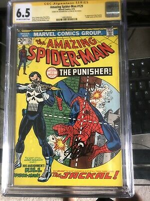 Amazing Spiderman 129 Cgc Stan Lee jon bernthal Signature First Punisher