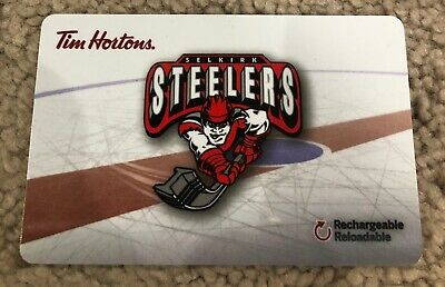 Selkirk Steelers Tim Horton's CANADA Gift Card *No Value Reloadable