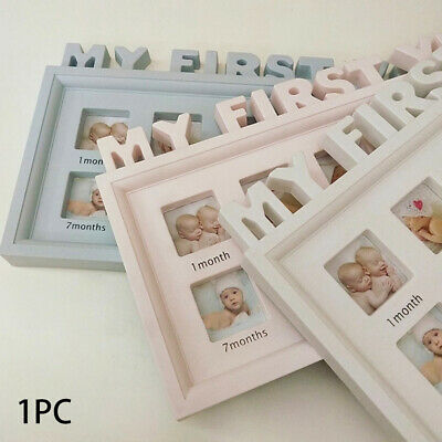 12 Months My First Year Photo Frame PVC Multifunctional Newborn Baby Ornaments
