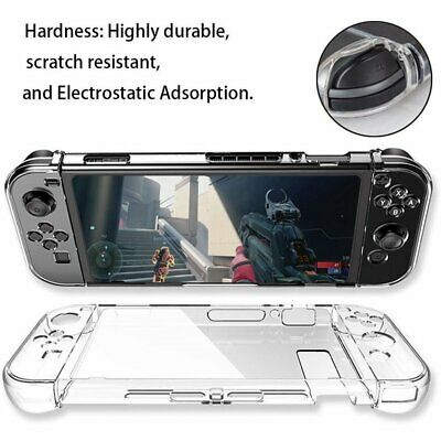 For Nintendo Switch Transparent Clear Shockproof Protective Hard Case Cover SkiM