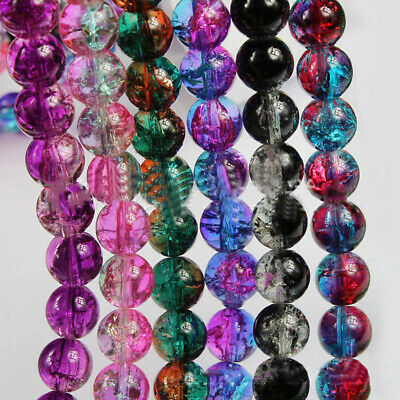 8mm Colorful Loose Round Transparent Beads Making Jewelry Necklace Spacer Bead