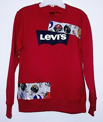 New Levis Boys Sz Large 12-14 Years NFL Patched Soft Pullover Sweatshirt
