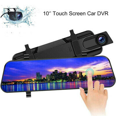 New 10'' Dual Lens HD1080P Car DVR Dash Cam Touch Screen Night Vision G-Sensor