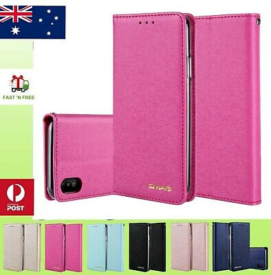 Luxury Slim Wallet Silk Leather Stand Flip Case Cover For iPhone X 8 7 6 6s plus
