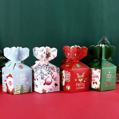 Gift Package Creative Xmas Bags Paper Carrier Candy Box Christmas Decoration